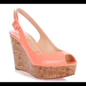 CHRISTIAN LOUBOUTIN flamingo wedge sandal